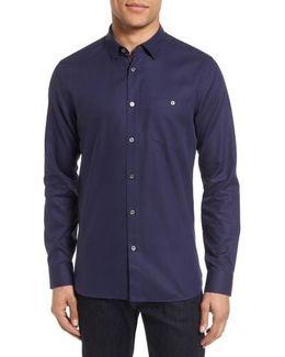 Nordlux Modern Slim Fit Stretch Cotton Sport Shirt