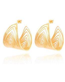Wave Hoop Earrings
