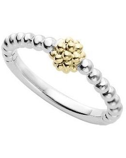 Caviar Icon Stacking Ring