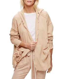 Get Yer Gauze Hooded Cotton Cardigan