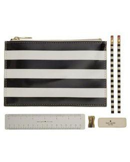 Stripe Pencil Pouch Set