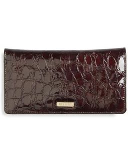 Dante Simone Croc Embossed Leather Wallet