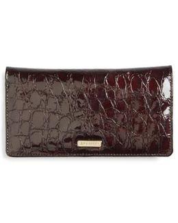 Dante Simone Croc Embossed Leather Wallet