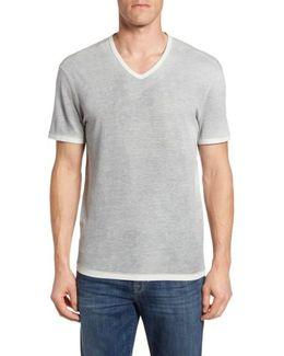 Mini Jacquard V-neck T-shirt