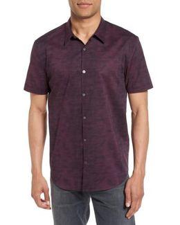 Dot Print Trim Fit Sport Shirt