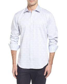 Classic Fit Check Jacquard Sport Shirt