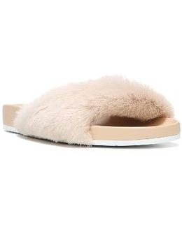 Garrison Genuine Shearling Sandal