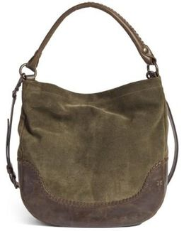 Melissa Suede & Whipstitch Leather Hobo