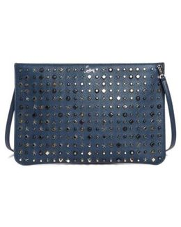 Loubiclutch Spiked Leather Clutch