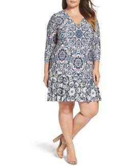 Mixed Paisley A-line Dress