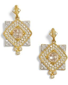 Visionary Fusion Pave Drop Earrings