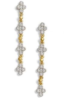 Visionary Fusion Pave Clover Drop Earrings