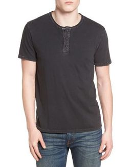 Rolled Neck Henley T-shirt
