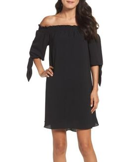Stretch Crepe Shift Dress