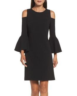 Cold Shoulder Crepe Dress