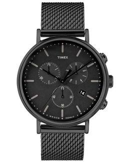 Timex Fairfield Chronograph Mesh Strap Watch
