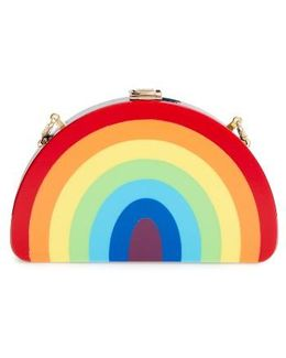 Rainbow Half Moon Clutch