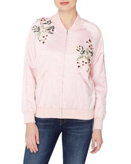Jimmie Embroidered Bomber Jacket