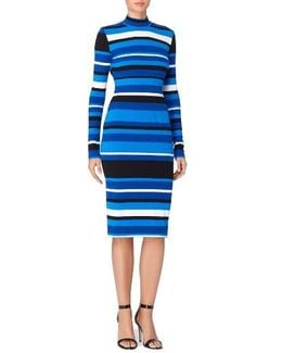 Kristiana Stripe Body-con Dress