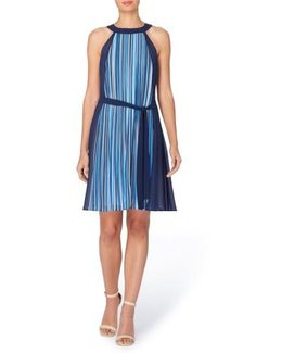 Chazz Stripe A-line Dress