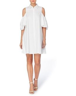 Zito Cold Shoulder Shirtdress