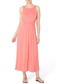 Lida Scoop Back Jersey Maxi Dress
