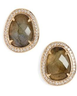 Semiprecious Stone Stud Earrings