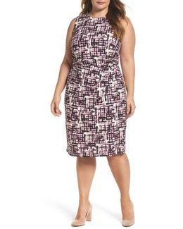 Print Jersey Sheath Dress