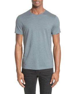 Striated Crewneck T-shirt