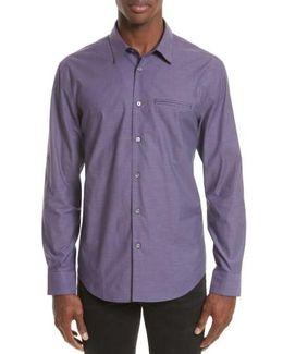 Roll Sleeve Cotton Sport Shirt