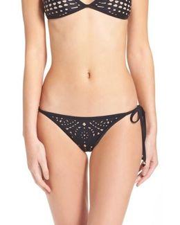 Laser Cut Side Tie Bikini Bottoms