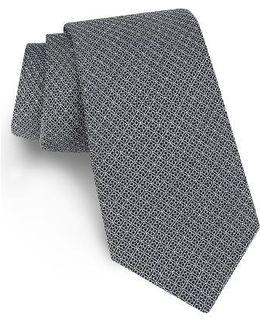 Sulton Geometric Silk Tie