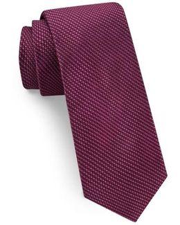 Solid Skinny Silk Tie