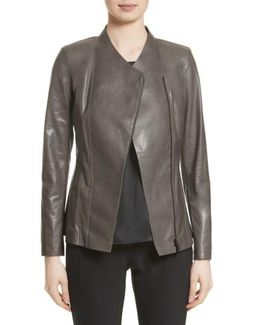 Austin Perforated Lambskin Leather Jacket