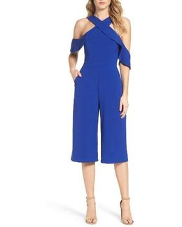 Cold Shoulder Culotte Jumpsuit