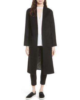 Wool & Cashmere Longline Coat