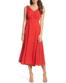 Pebble Crepe Midi Dress