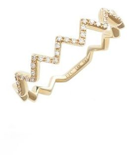 Zigzag Diamond Stack Ring