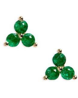 Trio Precious Stone Stud Earrings