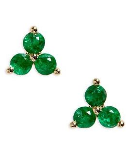 Trio Precious Stone Stud Earrings