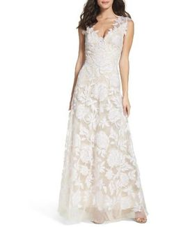 A-line Lace Gown