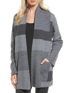 Colorblock Merino Wool Coat