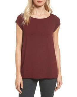 Bateau Neck High/low Tee