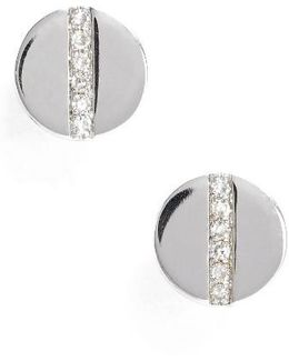 Screw Diamond Stud Earrings