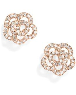 Rose Diamond Stud Earrings
