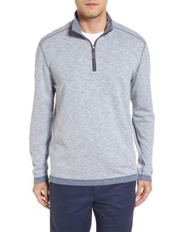 Sea Glass Reversible Quarter Zip Pullover