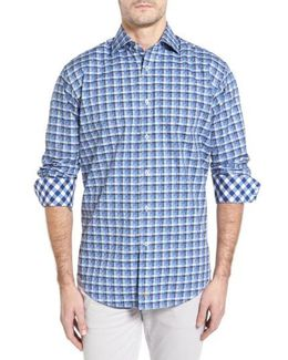 Classic Fit Funky Check Sport Shirt