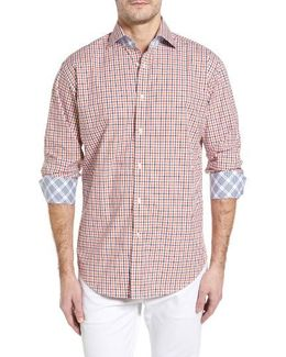 Classic Fit Textured Check Sport Shirt