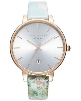 Kate Print Leather Strap Watch
