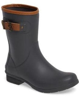 City Solid Mid Height Rain Boot